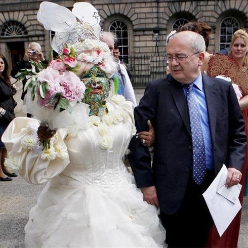 عجیب و غریب ترین عروس جهان و شوهرش + عکس