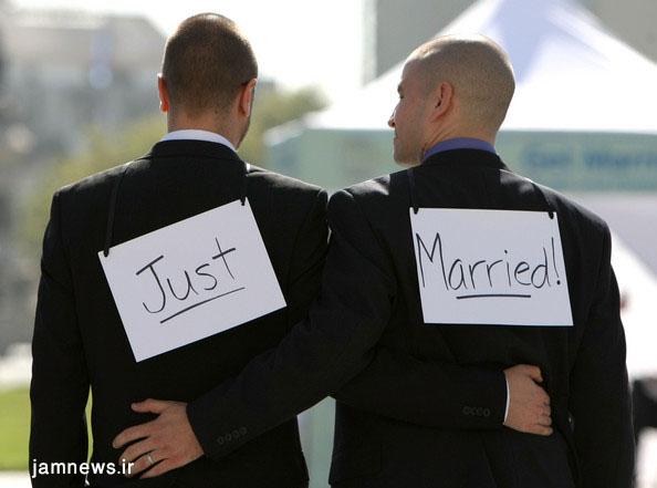 مردها هم می توانند با هم ازدواج کنند +عکس