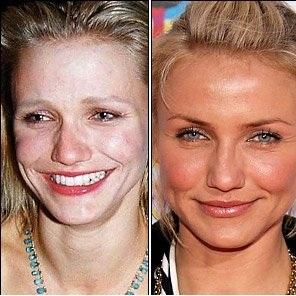 عکسهای قبل و بعد آرایش بازیگران زن معروف هالیوود