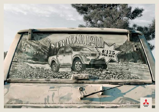عکسهایی از نقاشی هنرمندانه روی ماشینهای کثیف