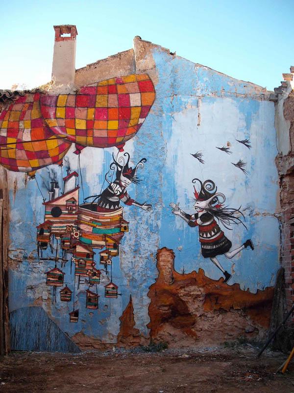 عکسهایی از نقاشی های دیواری حیرت انگیز خیابانی