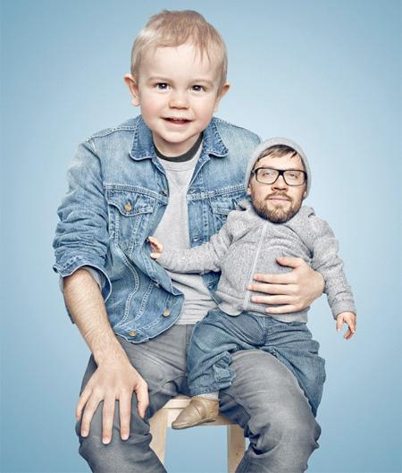 عکس هایی خنده دار از جابجایی کودکان با پدر و مادر