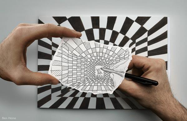 عکس هایی استثنایی از ترکیب عکس و نقاشی