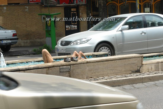 استحمام در بلوار دانشجوی شیراز (این دیگه آخرشه)
