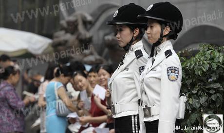 عکس هایی از افسرهای زن در پلیس راهنمایی چین