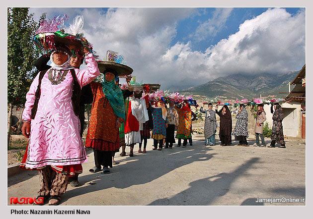 عکس هایی از یک جشن عروسی محلی در مازندران