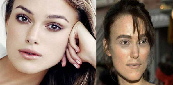 عکسهای قبل و بعد از آرایش معروف ترین زنان هالیوود