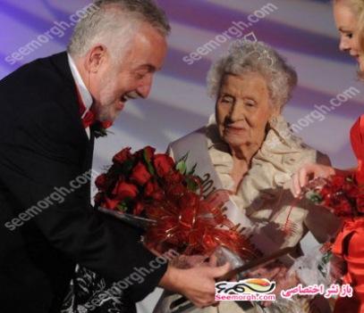 تاج ملکه زیبایی بر سر یک پیر زن 100 ساله +عکس