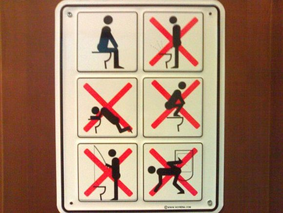 علائم توالت در کشورهای مختلف