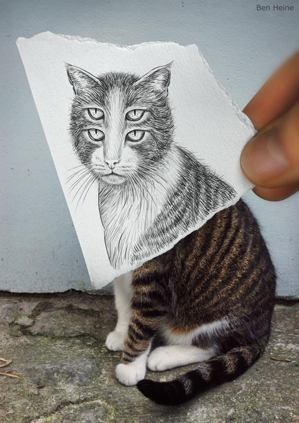 عکسهایی از تلفیق هنر عكاسی و طراحی با مداد