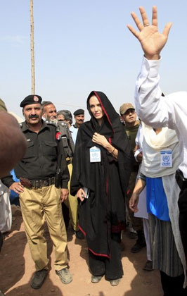 جدیدترین عکس های آنجلینا جولی پاکستان