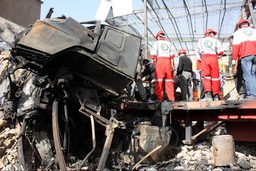 حادثه دلخراش تصادف تریلی در همدان