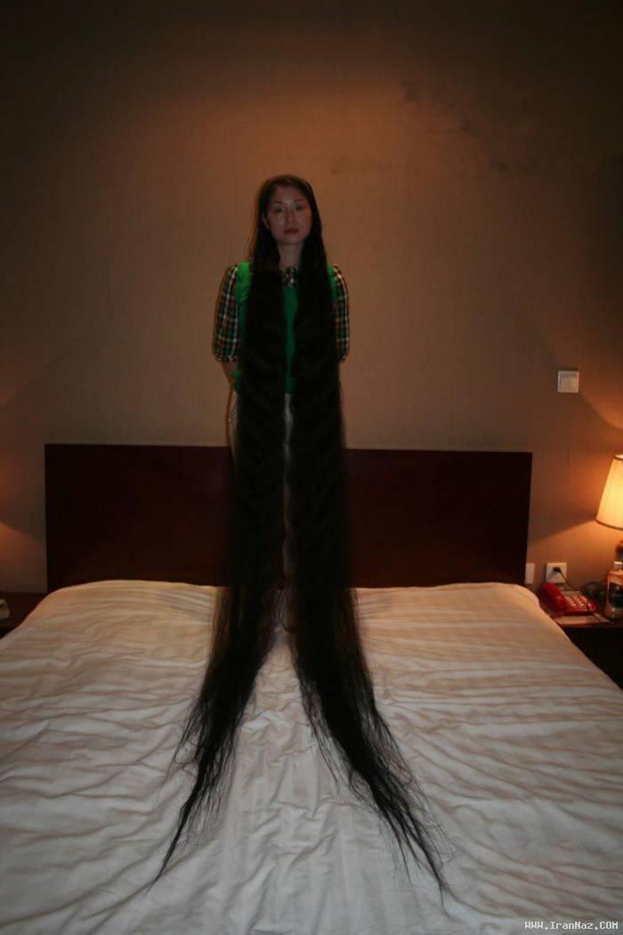 عکس های جالب و دیدنی از زنانی با بلندترین موی دنیا