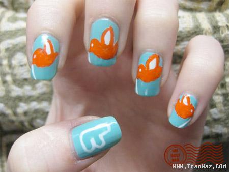 نمونه هایی بسیار جالب از هنر خلاقیت روی ناخن ها
