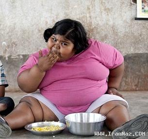 چاق ترین دختر جهان با 6 سال سن و 88 کیلوگرم وزن!!