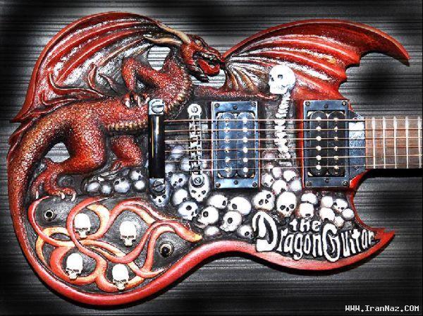 عکس های عجیب ترین و جالب ترین گیتار های جهان