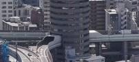 عکس های اتوبانی كه از وسط یک ساختمان می گذرد