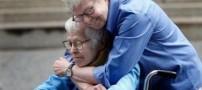 ازدواج عاشقانه مردی 84 ساله با زن 94 ساله +عکس