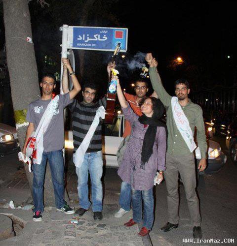 حرکت جالب و باور نکردنی جوانان تهران زیر پل پاركوی