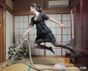 عکس هایی دیدنی و باور نکردنی از دختر پرنده ژاپنی !