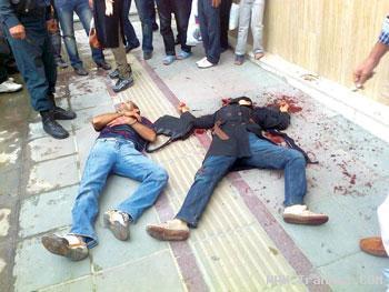 قتل همسر در پیاده رو توسط مردی در تهران + عکس