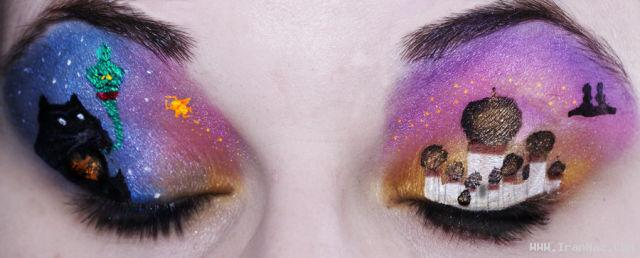 عکس های باور نکردنی از نقاشی زیبا روی پلك چشم