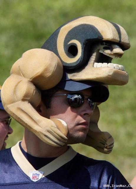 عکسهای خنده دارترین و عجیب ترین کلاههای جهان