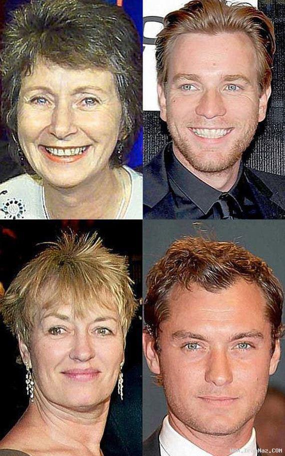 عکس های دیدنی افراد مشهور هالیوود و مادرانشان