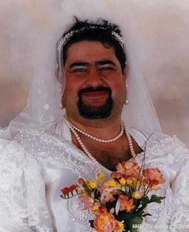 عکس های خنده دار از زمانی که آقایان عروس شوند!!