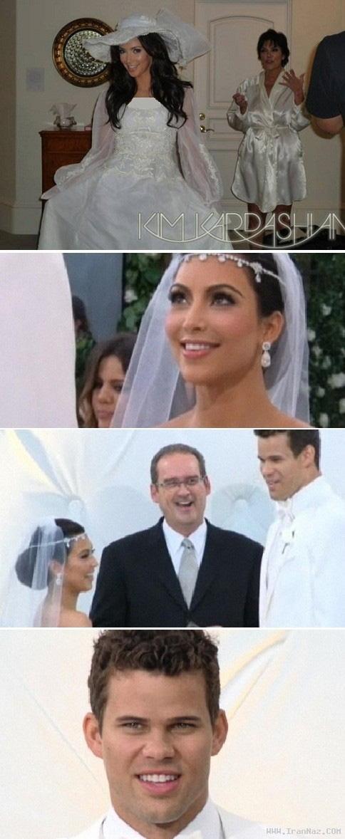 ازدواج رسمی کیم کارداشیان و کریس هامفریز+تصاویر
