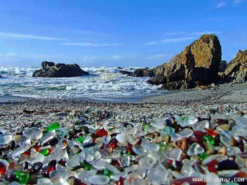 عکس های شگفت انگیز و زیبا از ساحل شیشه ای!!