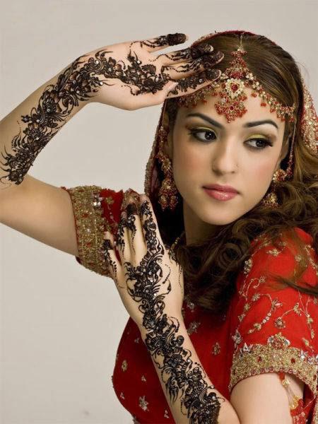 عکس های زیبا و چشم نواز از آرایش عروس هندی
