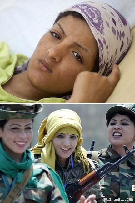 دختری 19 ساله جلاد و آدم کش کشور لیبی +عکس