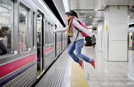 عکس های فوق العاده جالب از دختری که پرواز میکند!