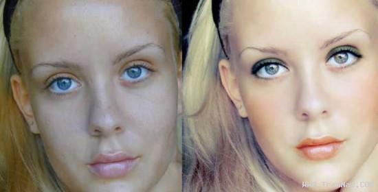 عکس های دختران جذاب قبل و بعد دستکاری چهره!