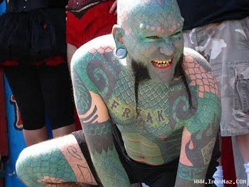 عکس های باور نکردنی از تغییر چهره مردم با هنر تاتو