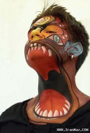 عکس های جالب از عجیب ترین نقاشی ها روی صورت