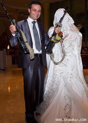 ازدواج های بسیار عجیب و به سبک مسلحانه +عکس