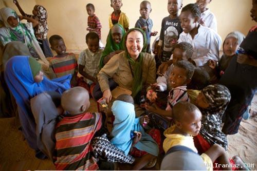 کتایون ریاحی در سومالی و اهدای کمک .... + تصاویر
