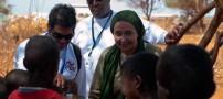 کتایون ریاحی در سومالی و اهدای کمک …. + تصاویر
