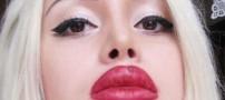 عکس های دیدنی تغییر چهره های متفاوت دختری زیبا
