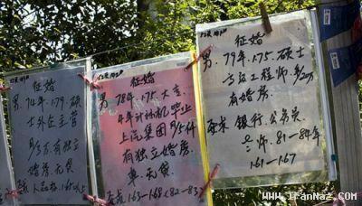 بازار بسیار داغ همسریابی در شانگهای چین (تصویری)