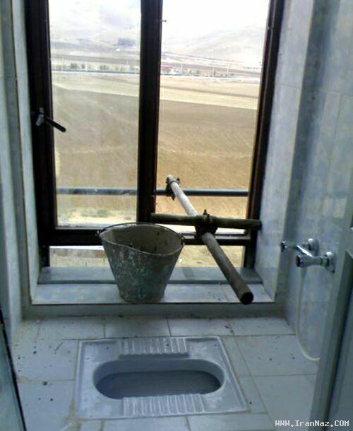 عکسی از شاهکار مهندسی در طراحی توالت اوپن !!