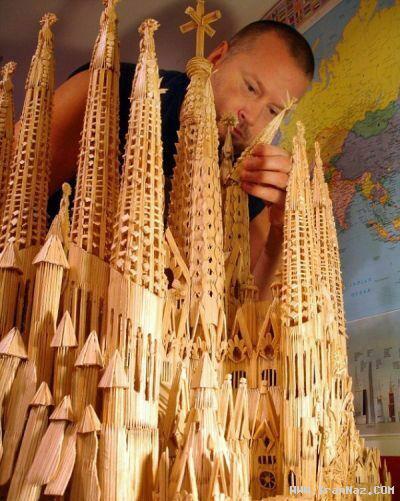 عکس های جالب شهر ساخته شده از خلال دندان