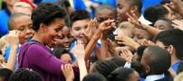 تلاش میشل اوباما برای ثبت رکورد در گینس!! +تصاویر