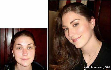 عکس هایی باور نکردنی از معجزه آرایش در خانم ها