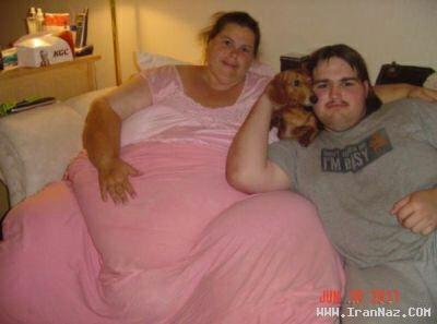 عکس هایی جالب و باور نکردنی از چاق ترین زن دنیا!!