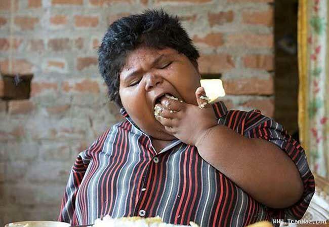 عکسهای با مزه و بسیار دیدنی چاق ترین کودک جهان