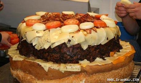 فروش بزرگترین همبرگر جهان با 153 کیلو وزن +عکس