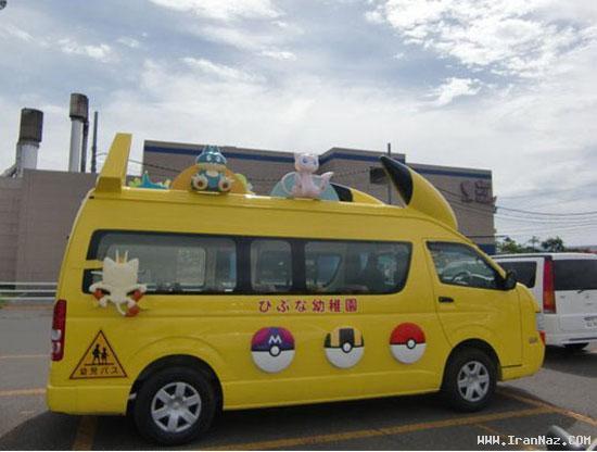 عکس هایی دیدنی و بامزه از سرویس مدارس در ژاپن